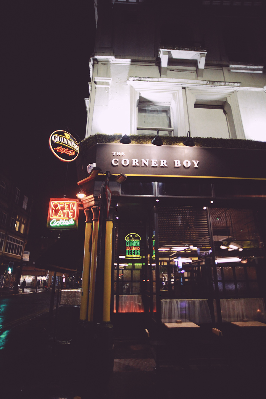 Exterior photo of the Corner Boy in Manchester
