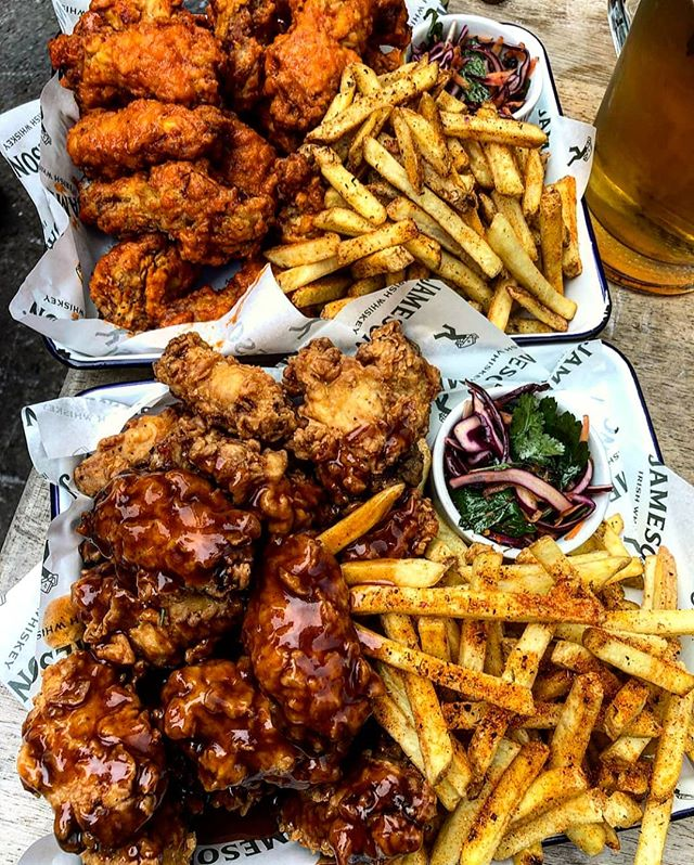 ⚠️ONLY 2 WEEKS LEFT ⚠️ Who's joining us this Wednesday? Which would you go for Jameson BBQ or Buffalo 🤔  Our Chicken Pileup has been such a popular hit with you lot! If you have tried it yet make sure to book now via our website. (link in bio.) #TheCornerBoyNQ
