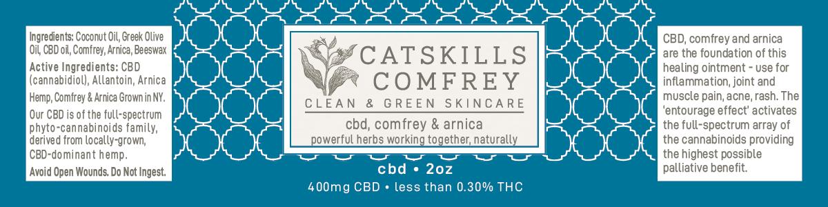 Catskills Comfrey ~ CBD | Catskills Comfrey | Clean & Green Skincare  Ointments