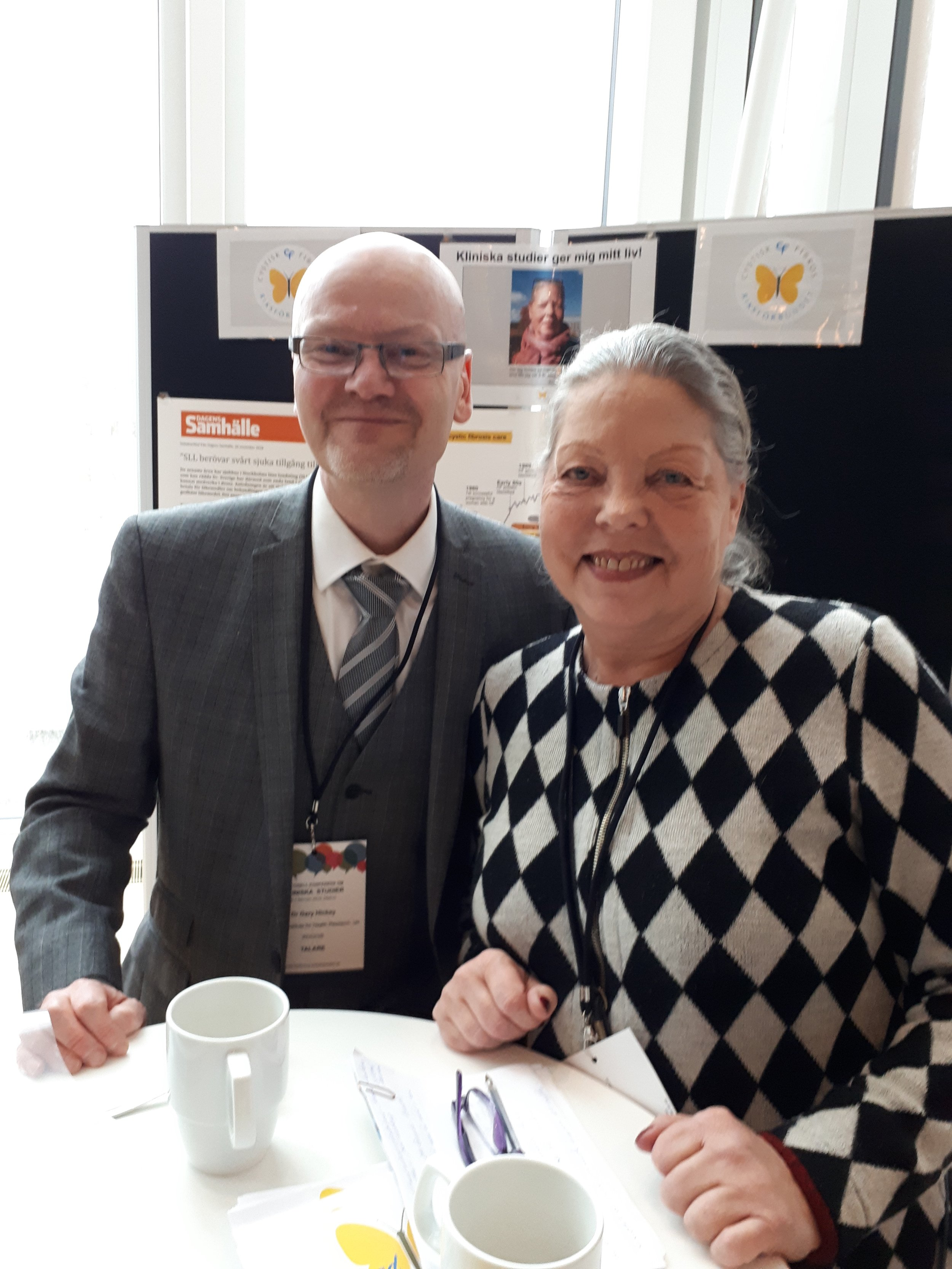 Gary Hickey från NIHR i England tillsammans med Kristina Radwan från RfCF