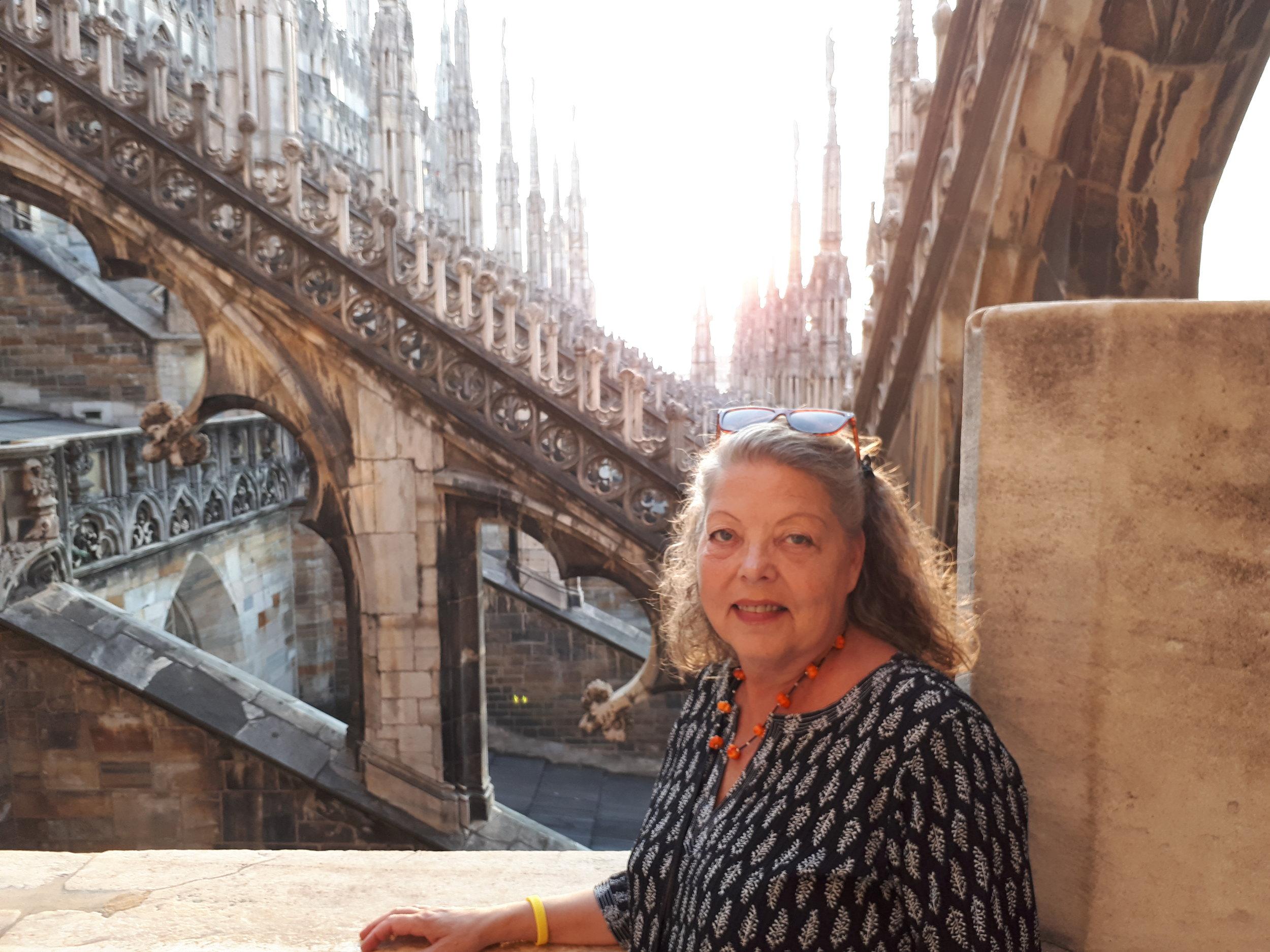 Jag på taket på katedralen i Milano.