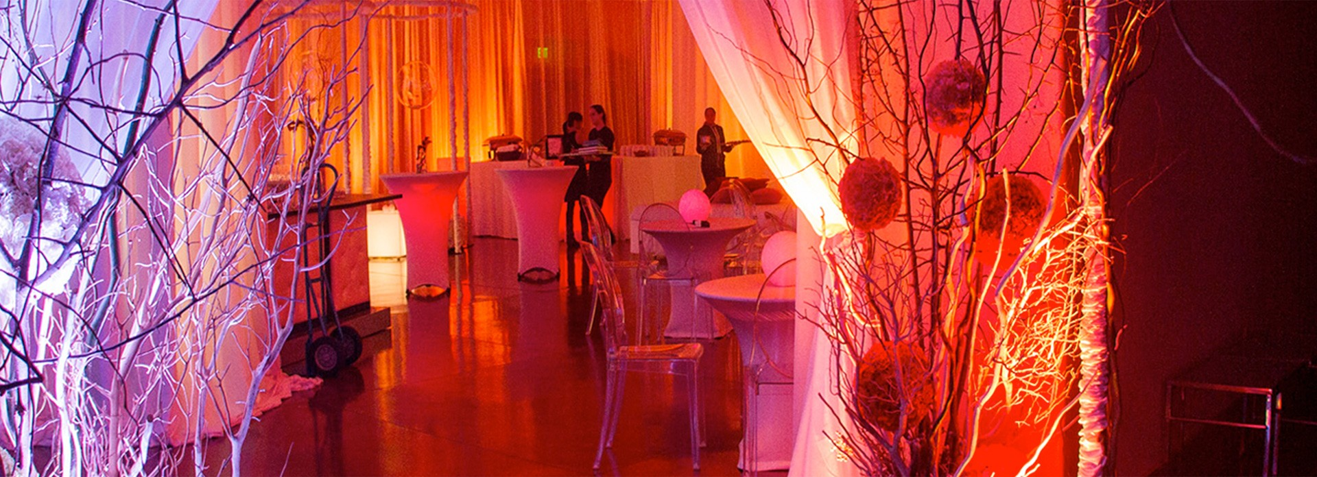 Where Events Come Alive - Drapes - the critical elements that can transform a rented space into a luxurious event.