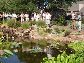 Landscape architects view the Boulder Garden.