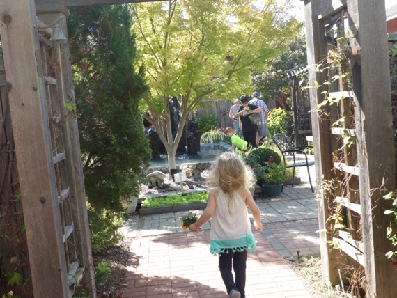 So much to explore! A passage-way in the south end of the Vegetable Garden leads to the Fountain Garden.
