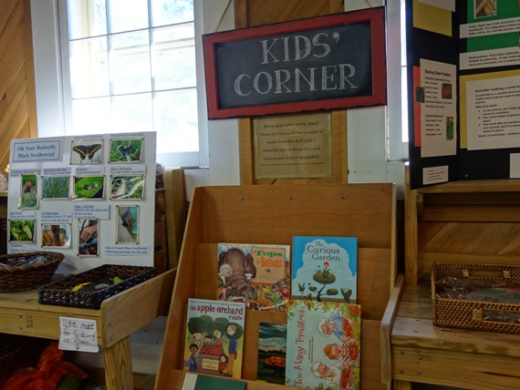 Inside is a special Kids' Corner with activities for children. You'll also find Linnaeus Gardeners ready to help with any questions.