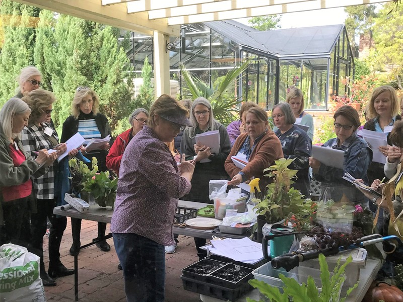 Training takes place both in the classroom and in the garden.