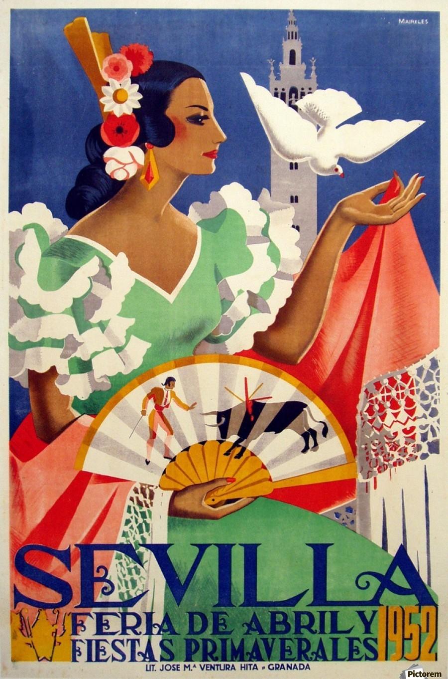 900_Sevilla vintage travel poster.jpg