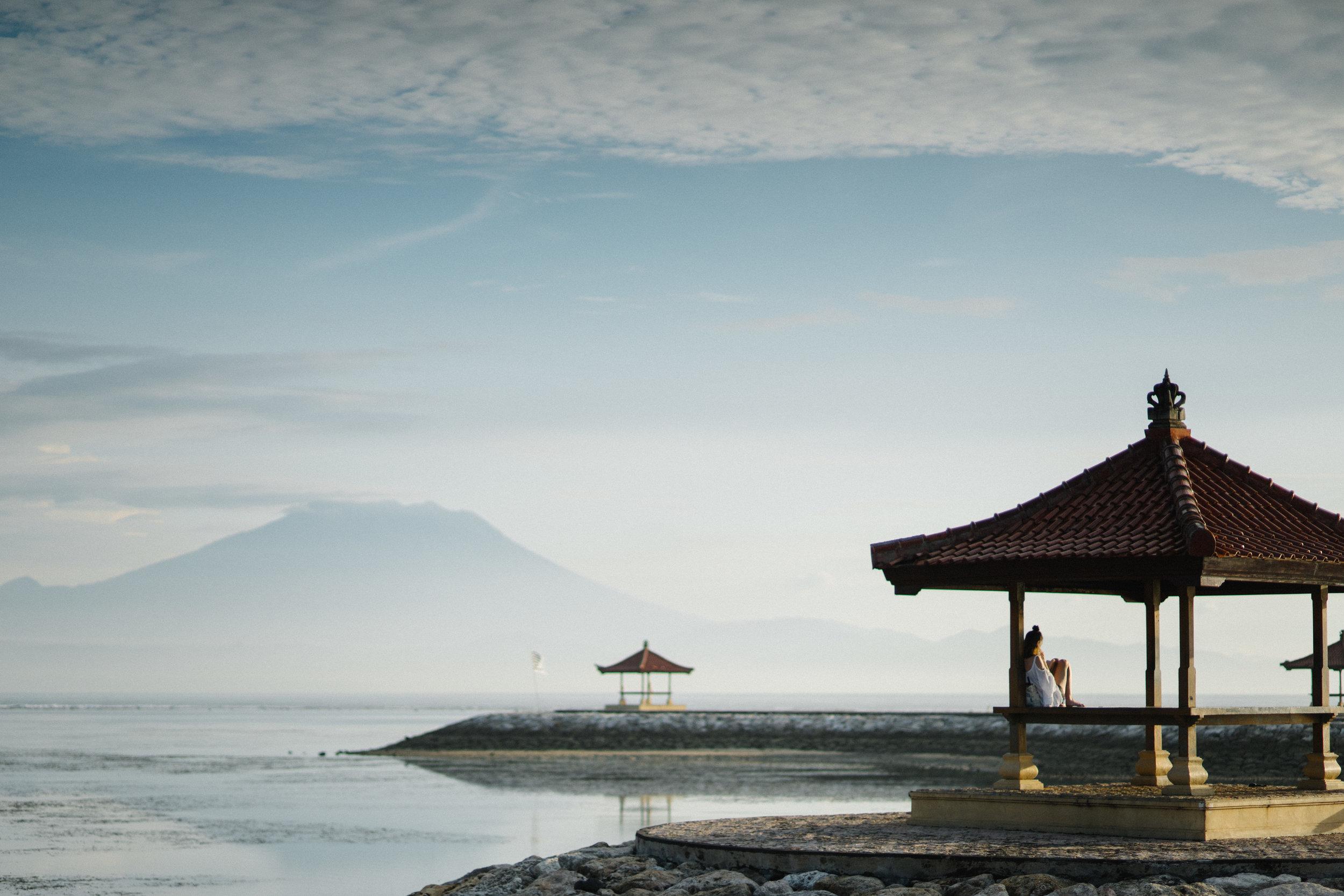 Mt. Agung from Sanur Beach