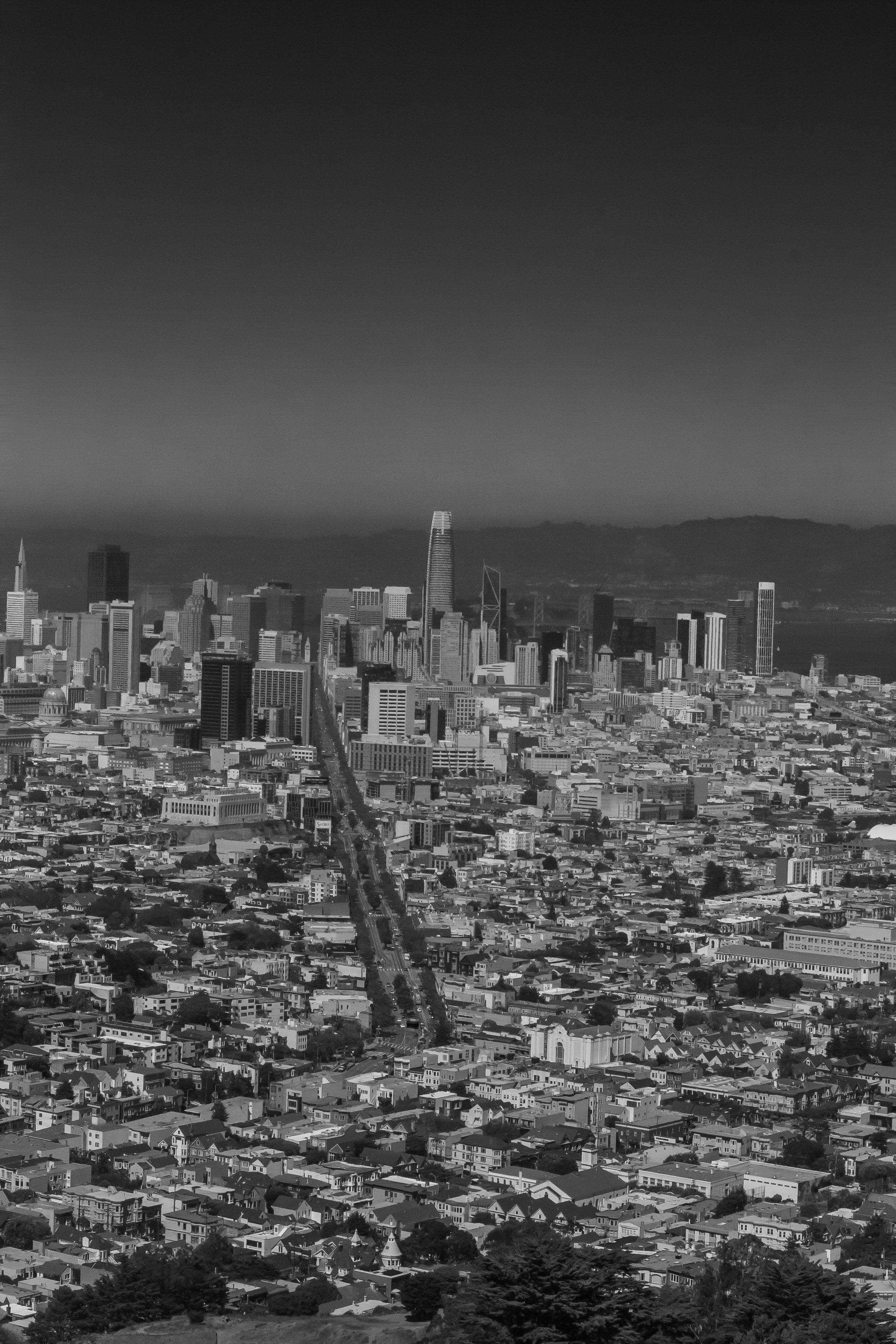 San Francisco, taken from Twin Peaks