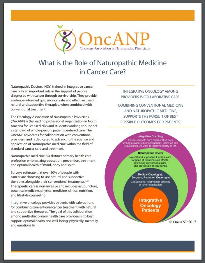 Integrative Oncology in Cancer Care Handout