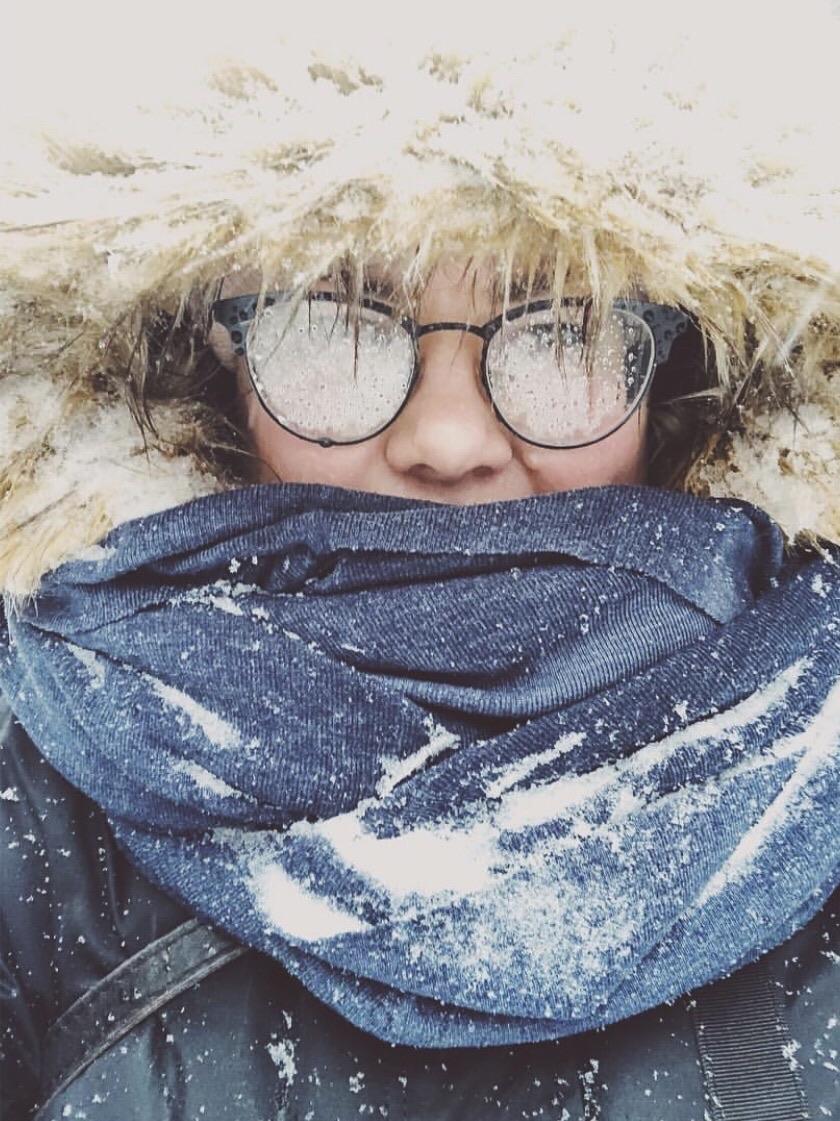 silmälasit lumisade