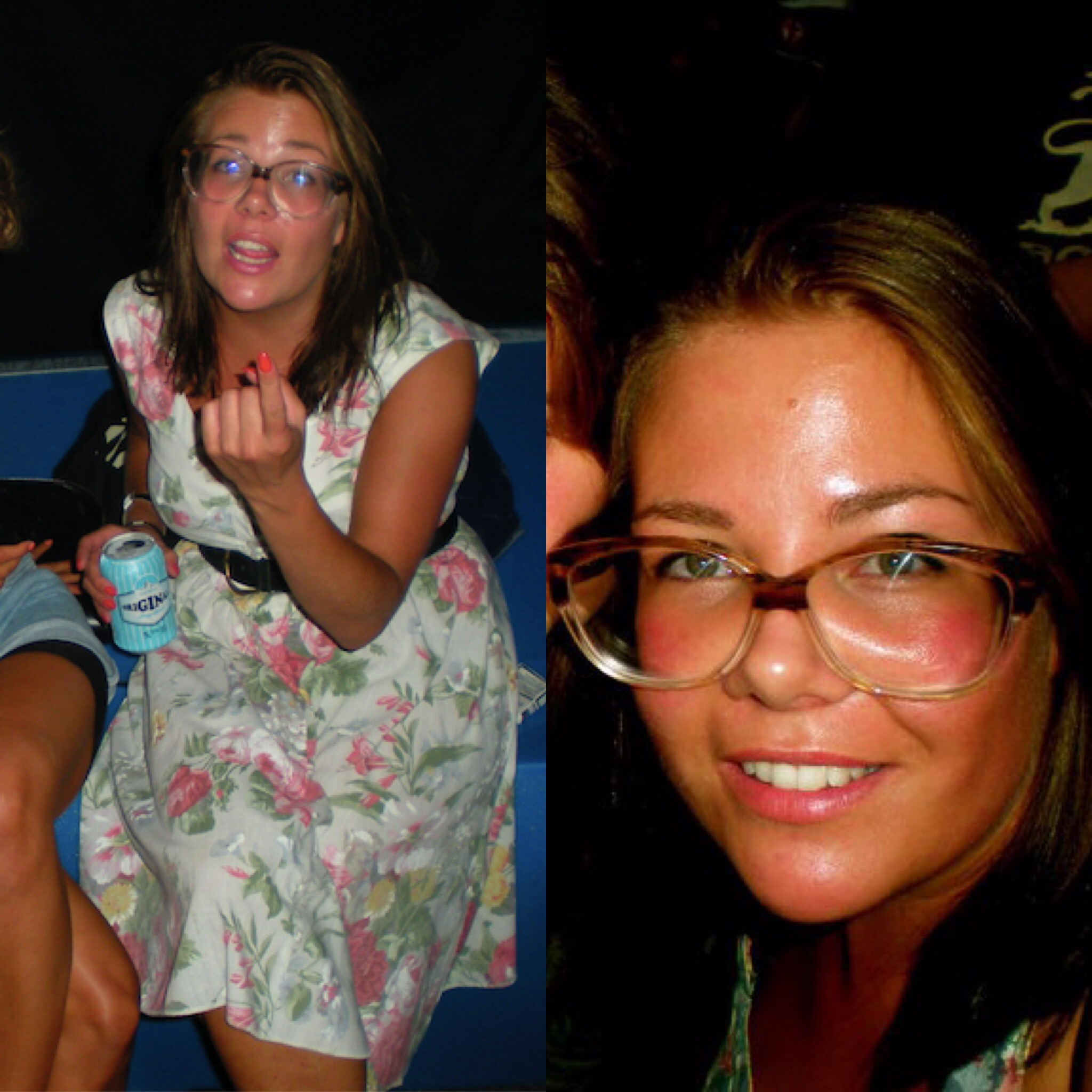 2010 // 2010. Tämän kuvaparin nimi on YOU KNOW WHAT THEY SAY ABOUT GIRLS WITH BIG GLASSES.