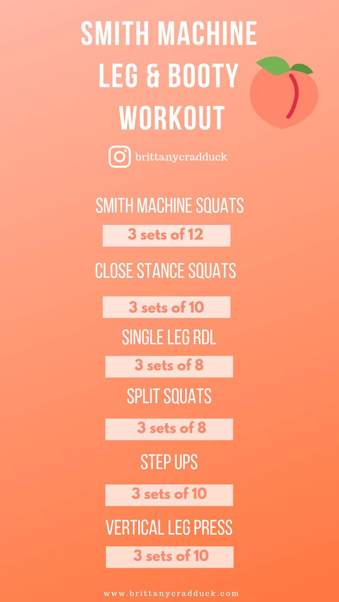 Smith Machine Leg & Booty Workout