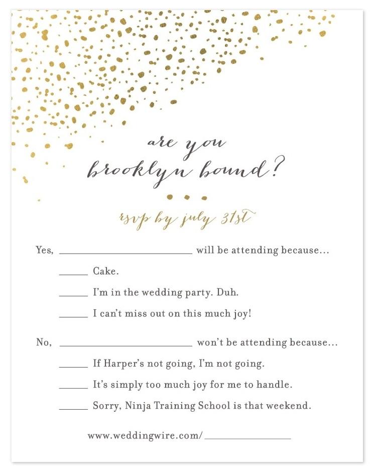 Wedding Invitations —  private order