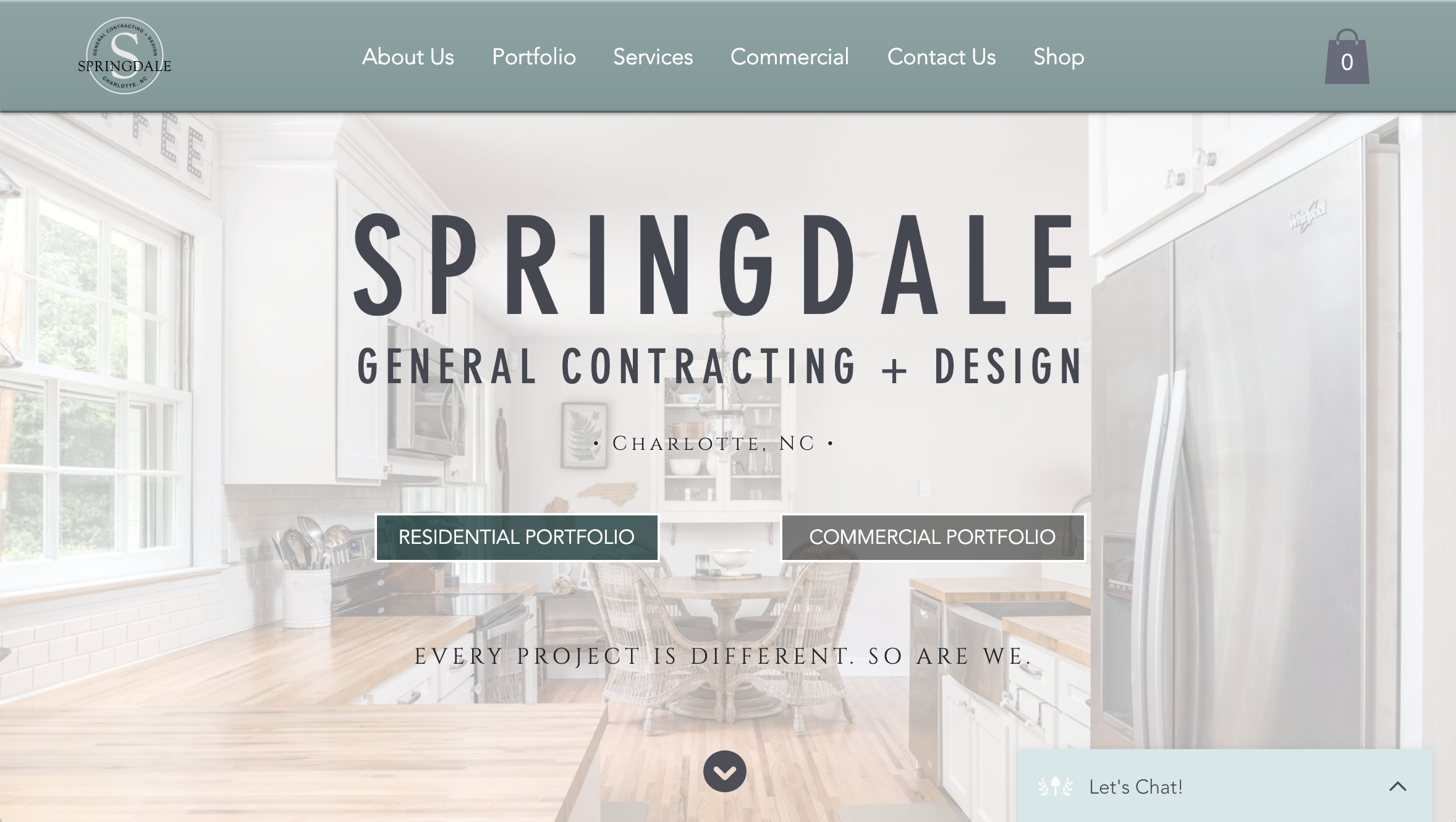Website Design + Copywriting — Springdale GC + Design