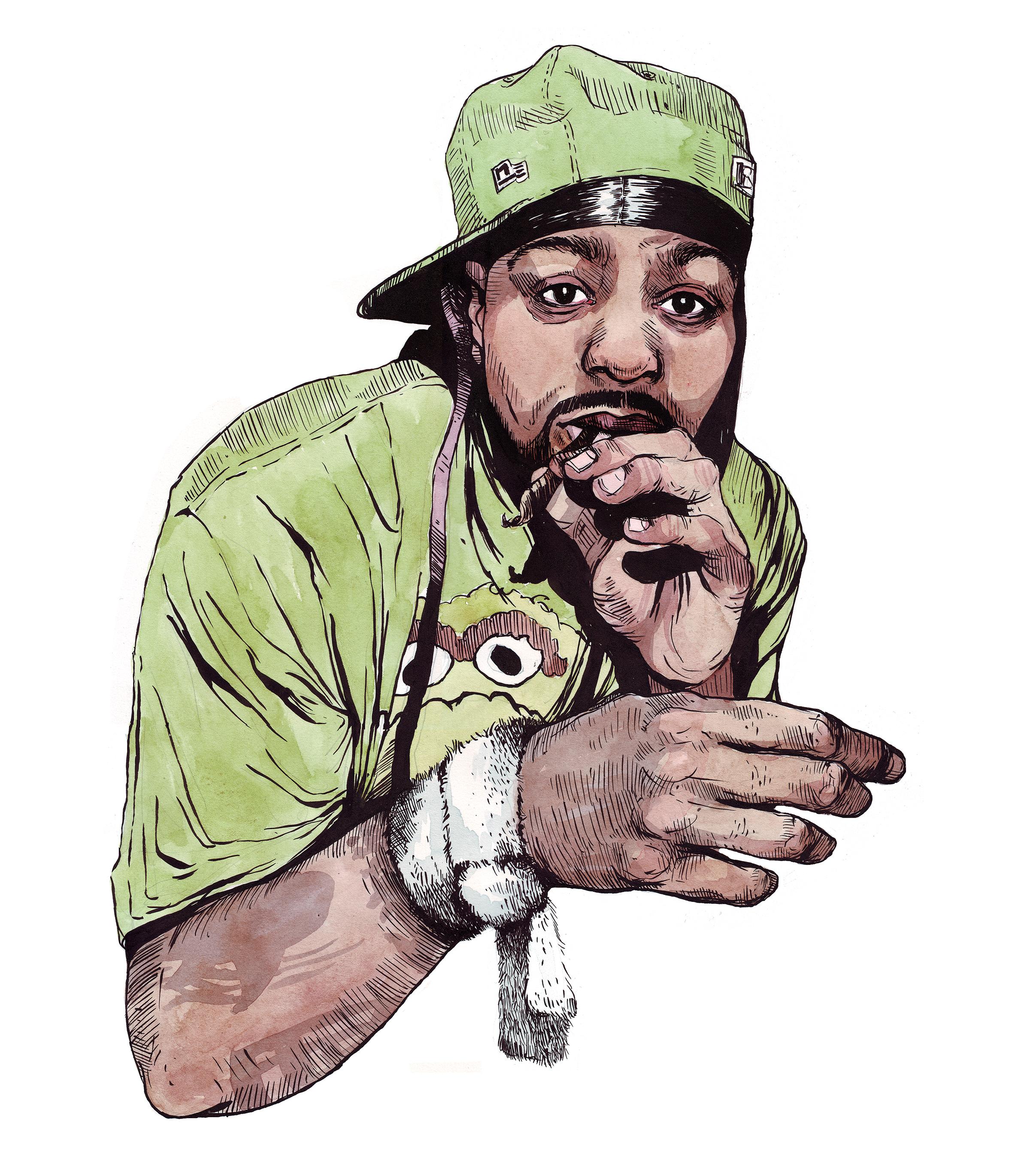 Method Man for Warner Bros Entertainment, Ink & Watercolor 2016