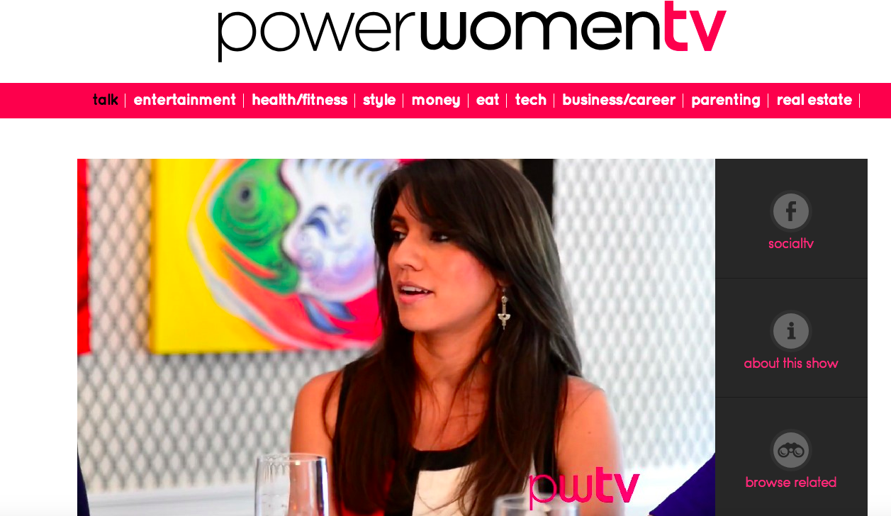 Speaker at powerwomen tv event
