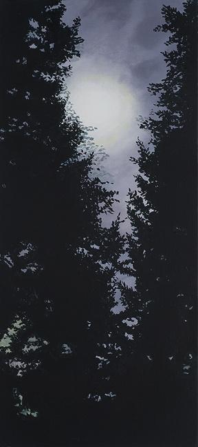 SIGHTING, 2014, oil on canvas, 34 x 15