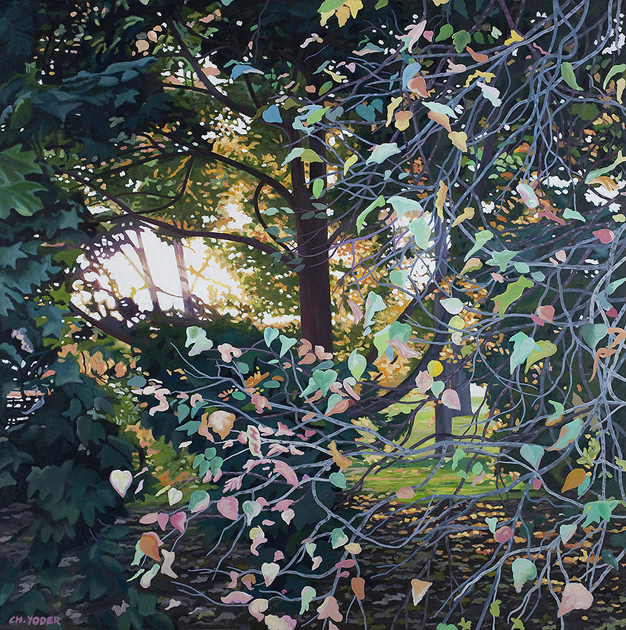 QUIET THE EYE, 2008, oil on canvas, 48 x 48