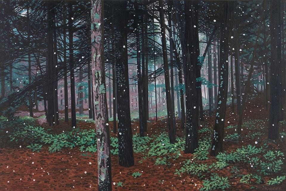 HUSH, 2006, oil on canvas, 36 x 54