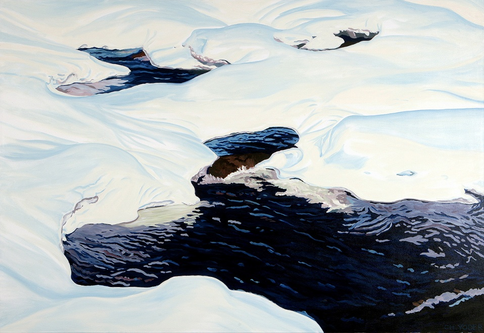 UPPER CRUST, 2006, oil on canvas, 44 x 64