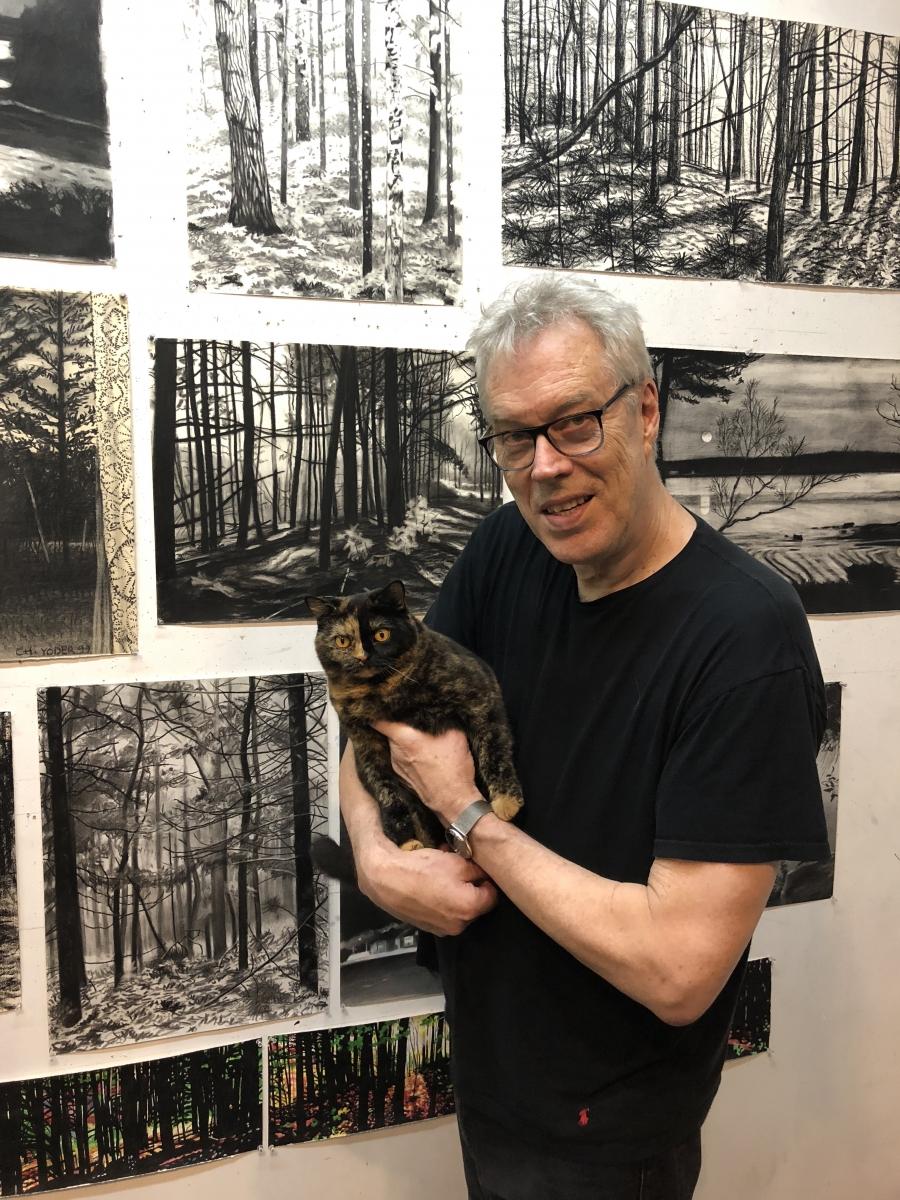 Charlie Yoder in his East Hampton studio