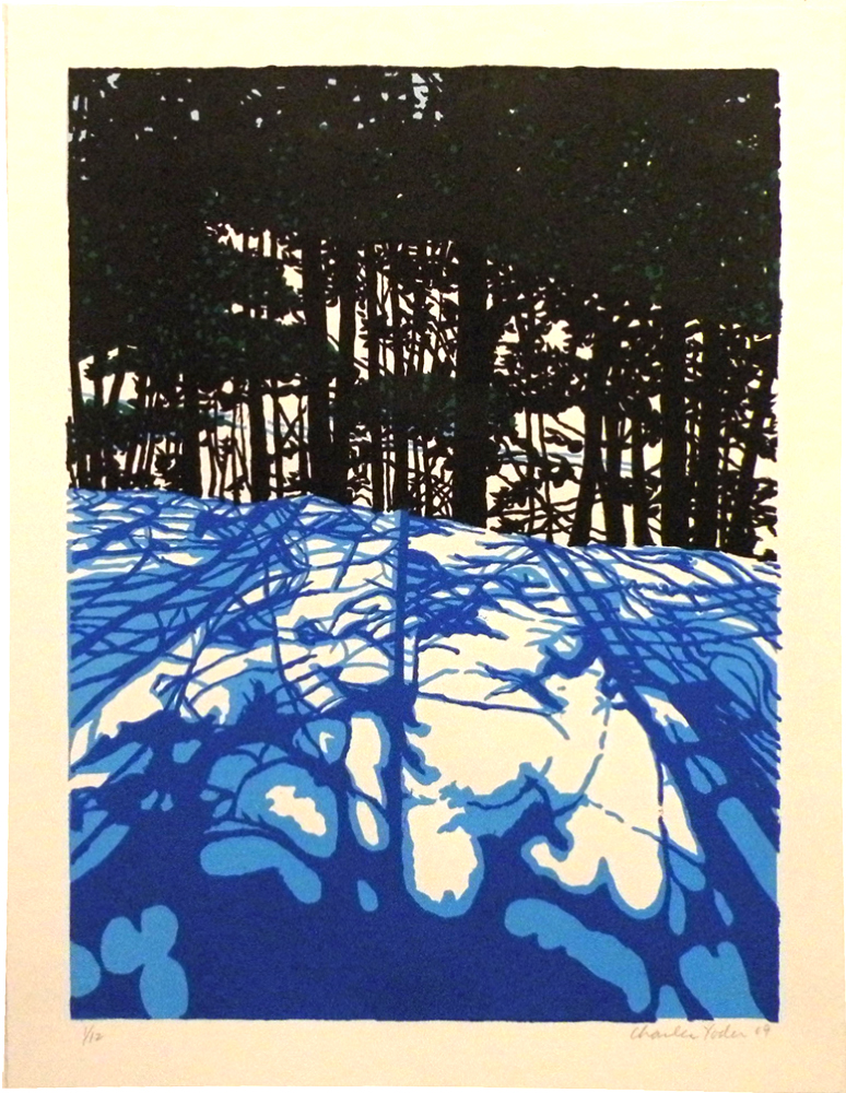 "THE HIGH GROUND, 2009, 4 color silkscreen, 23 1/2"" x 17 1/2"" Edition of 12"