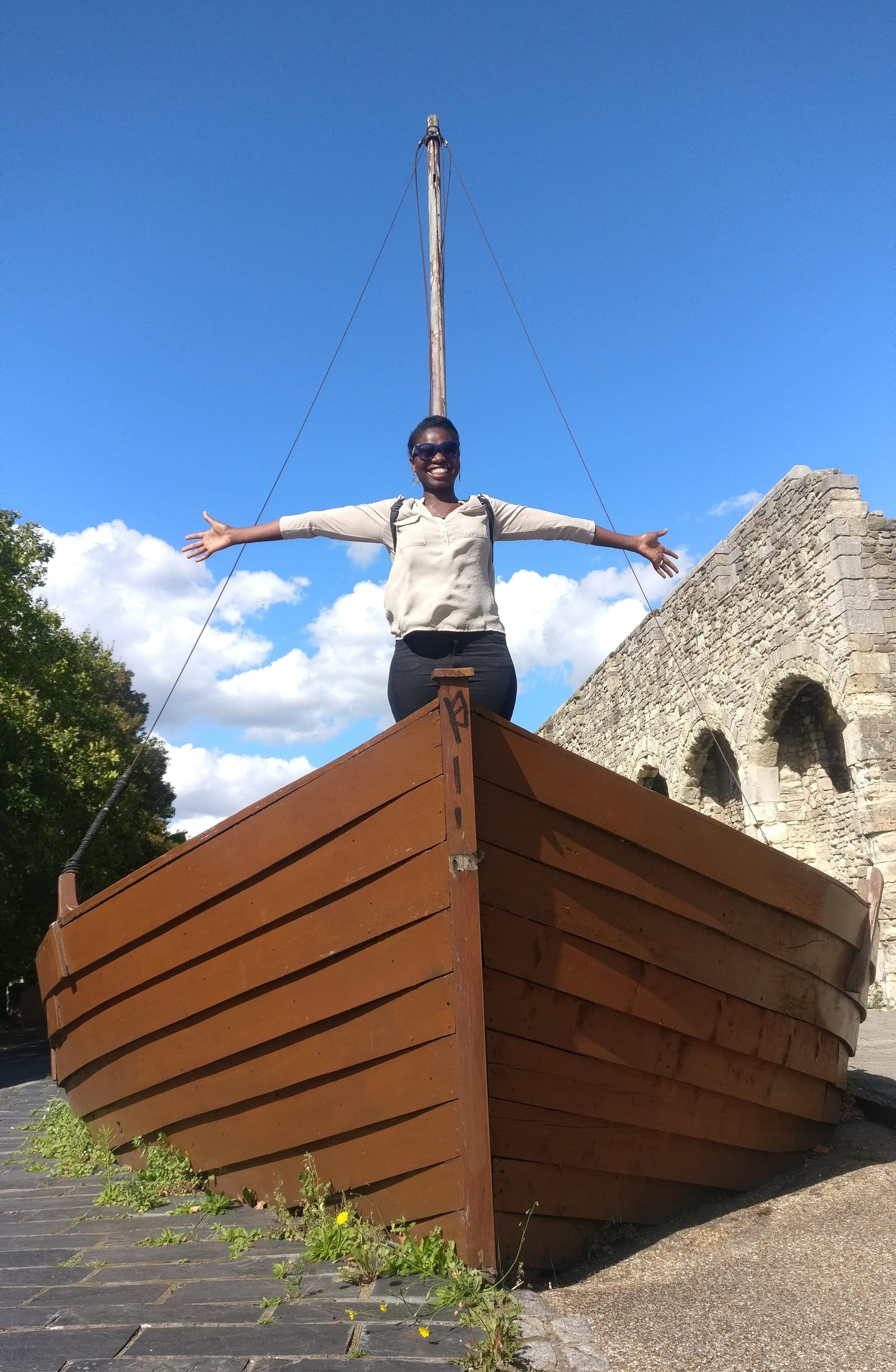 Replaying the Titanic scene in Southampton