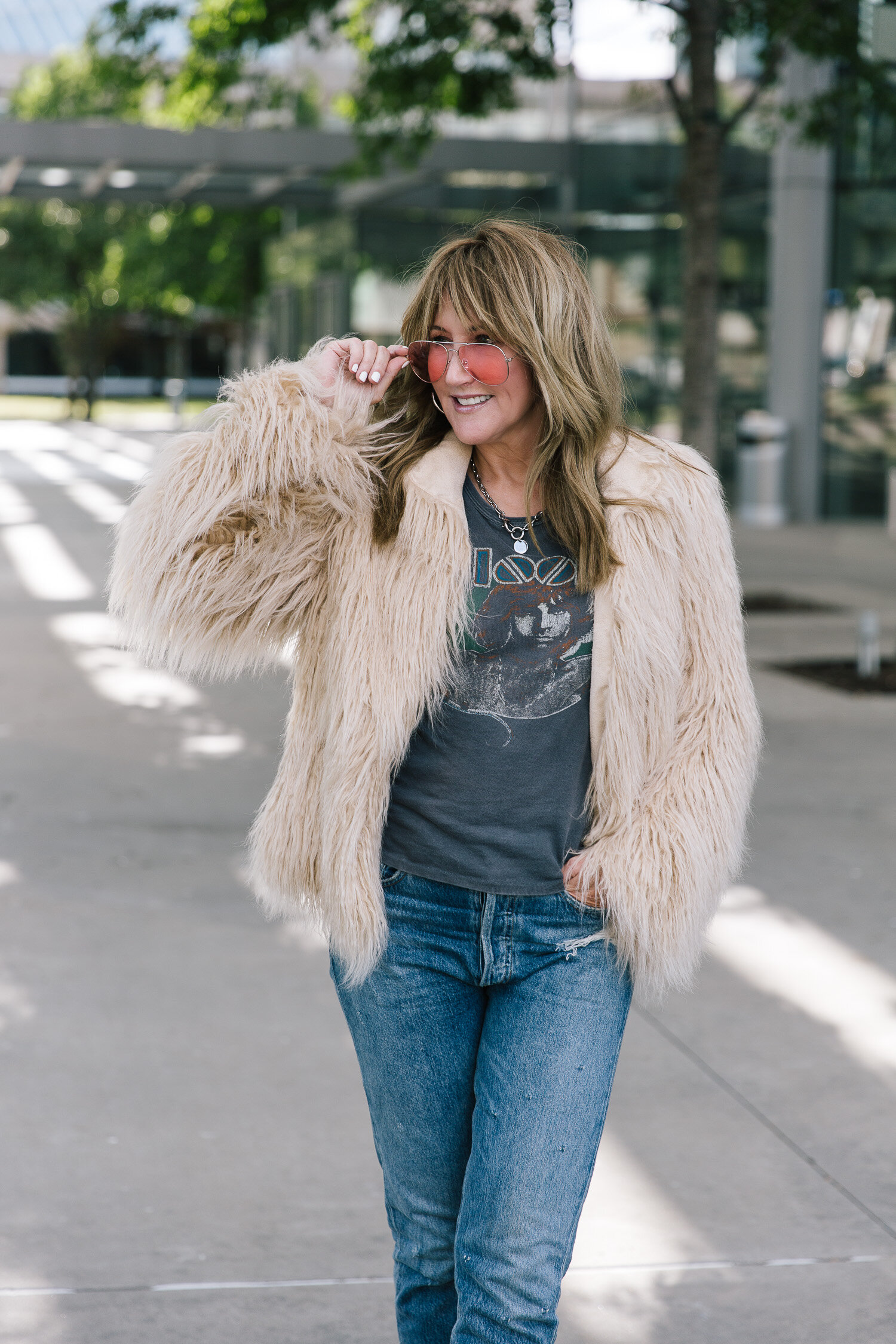 House of Harlow 1960 Faux Fur Jacket