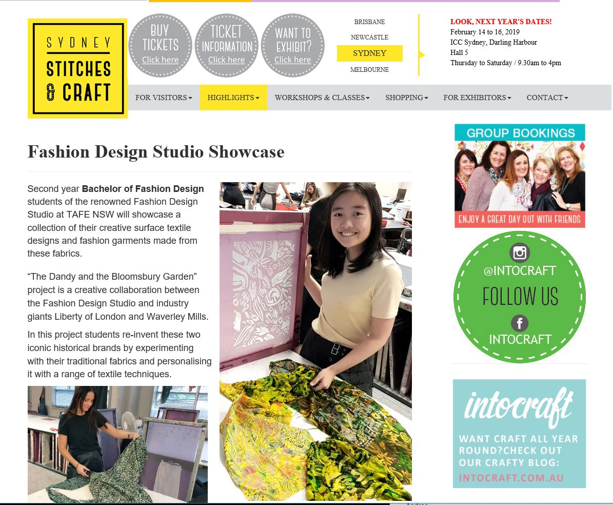 FDS showcase at Craft Show Darling Harbour.JPG