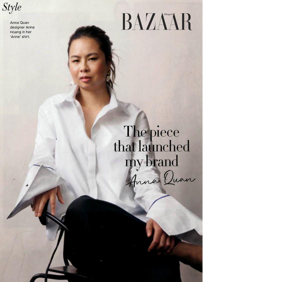 Anna QUAN - Designer Anna Hoang's label has been featured locally and internationally in Vogue, Harpers Bazaar and Elle magazine.www.annaquan.comwww.harpersbazaar.com.au