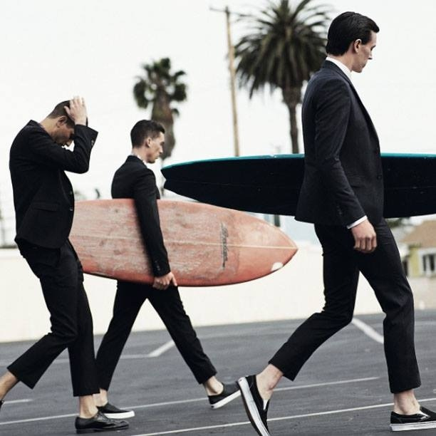 Surfing In Suits True Gentleman Southern California