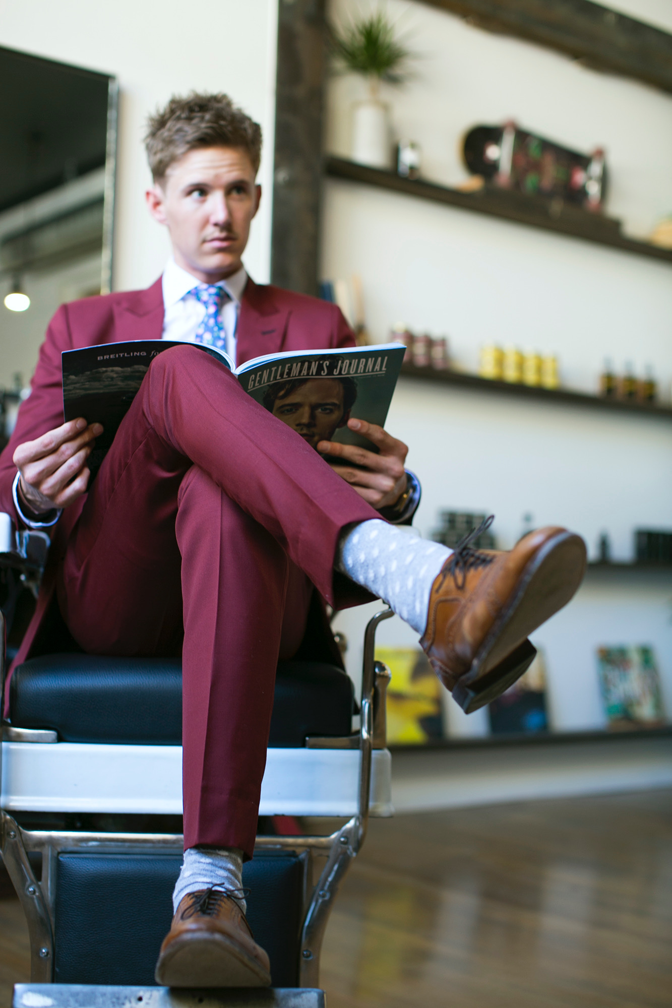 Draper Barber Co - Cole Kelson, founder of Draper Barber Co, Draper, a venue that offers the Modern Gent a chance to create their own brand states the