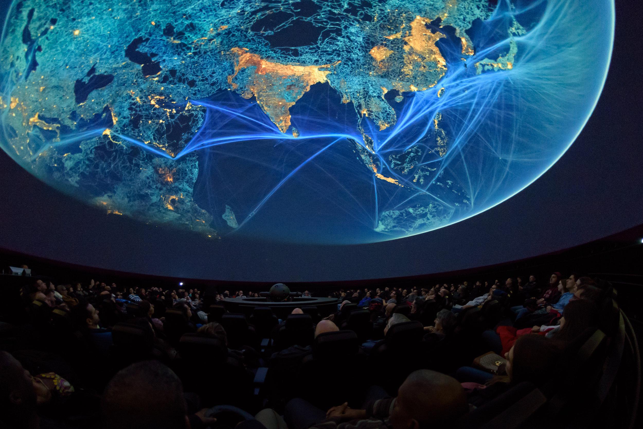 """""""Tempo"""" at Montréal's planetarium, 2015."""
