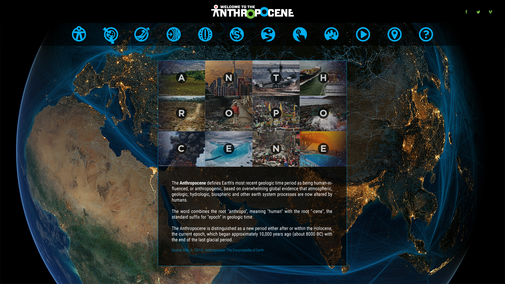 Anthropocene.info, a website created with the Stockholm Resilience Centre, CSIRO and Future Earth