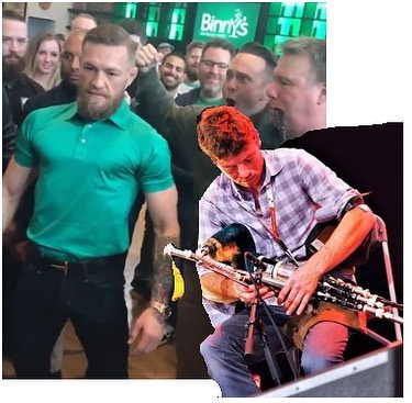 All pipes and pipers are great @thenotoriousmma, but there is only one Irish bagpipe and it's the uilleann pipes!! In America, quasi-Irish bands kick off St. Patrick's day but the real thing is right in your backyard at @cobblestonepubdublin. Next time you're in Dublin, swing by and ask for Néillidh Mulligan to show ya the ropes, the real PROPER Irish pipes 🍀👊🏻😎. . And if you'd like to hear the story of Ireland's native musical instrument and some damn fine Irish piping, grab copies of this film (link in the bio) and tell it far and wide. . Big ups for supporting the First Responders and local teams w/ @binkys @properwhiskey. We met on the beach in Venice years ago and your inspiring words helped me come back from a knee injury. All good now! Best to ya 👍