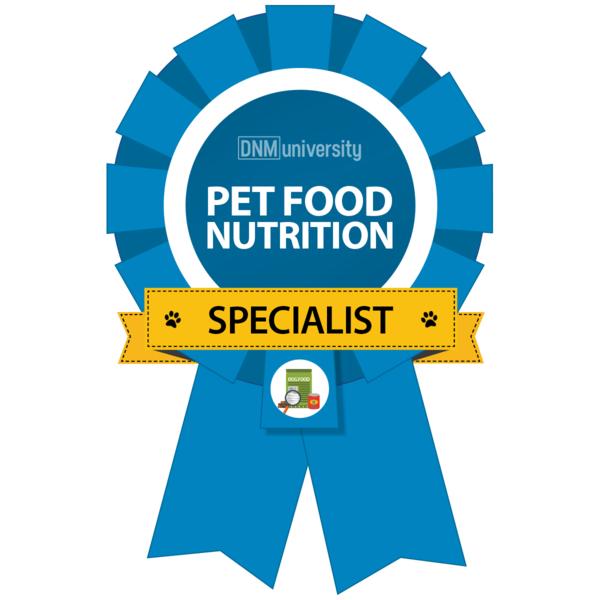 PET FOOD NUTRITION SPECIALIST  DNM UNIVERSITY