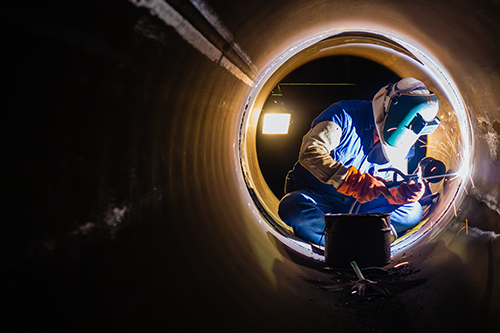 weld - We can offer you, besides, electrode, weld using Tungsten gas (TIG) and weld by inert metal gas (MIG). That are two types of process by arc welding.