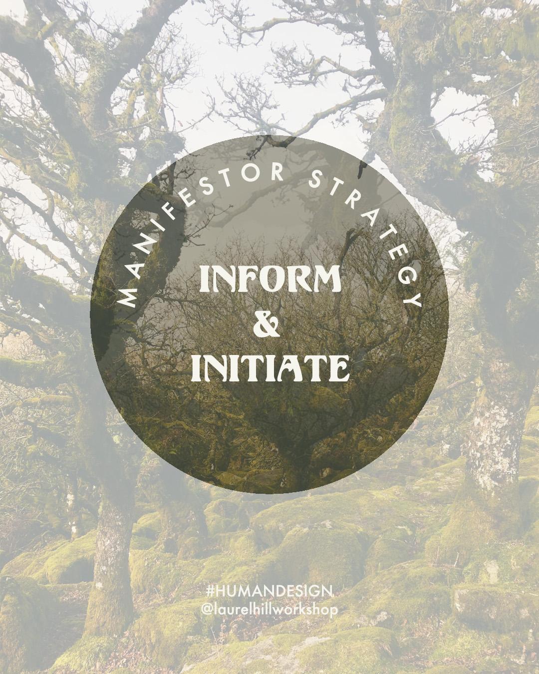 Human Design Manifestor Strategy