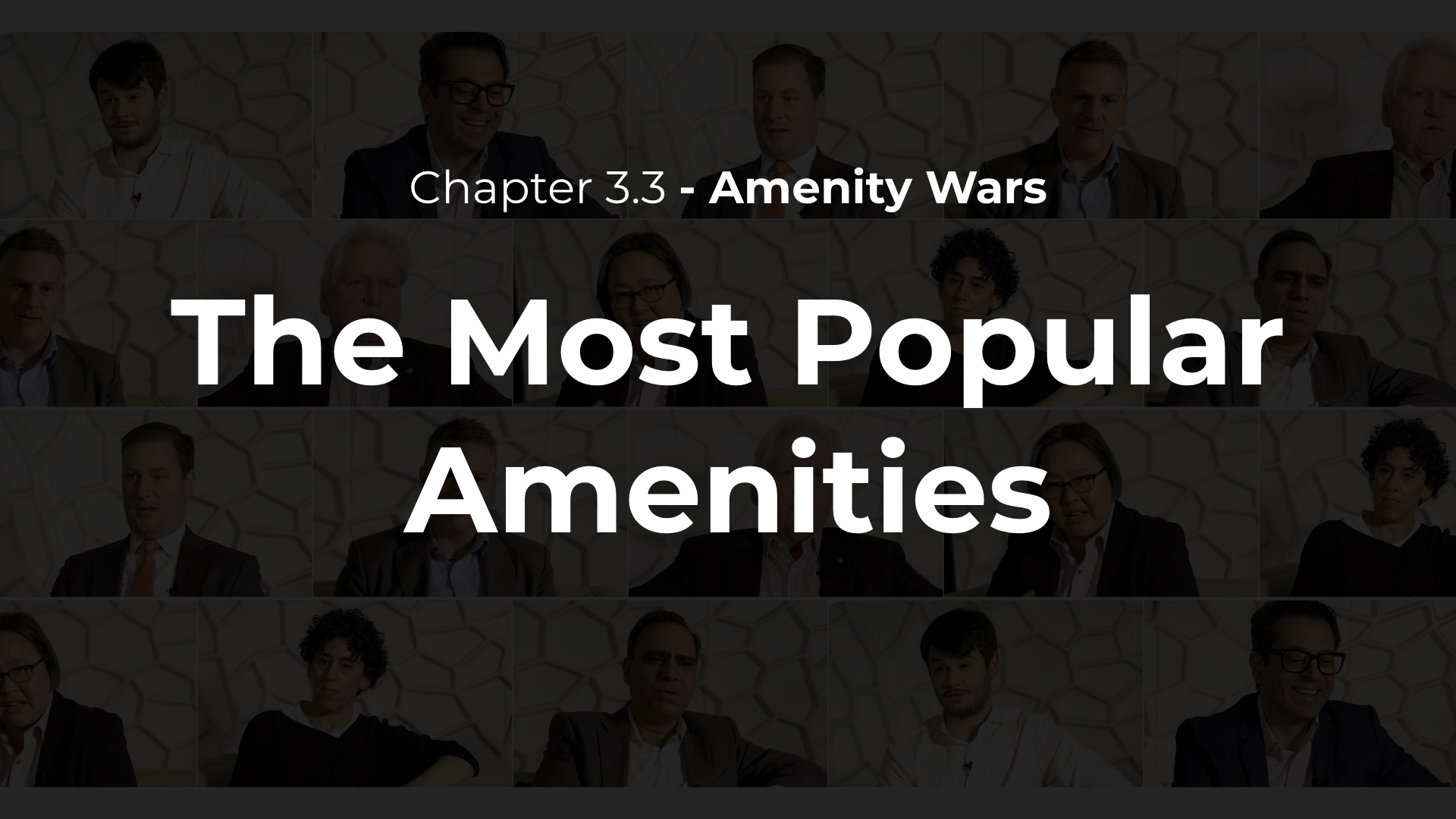 3.3 - The Most Popular Amenities