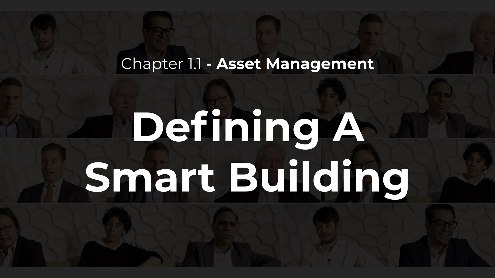 1.1 - Defining A Smart Building