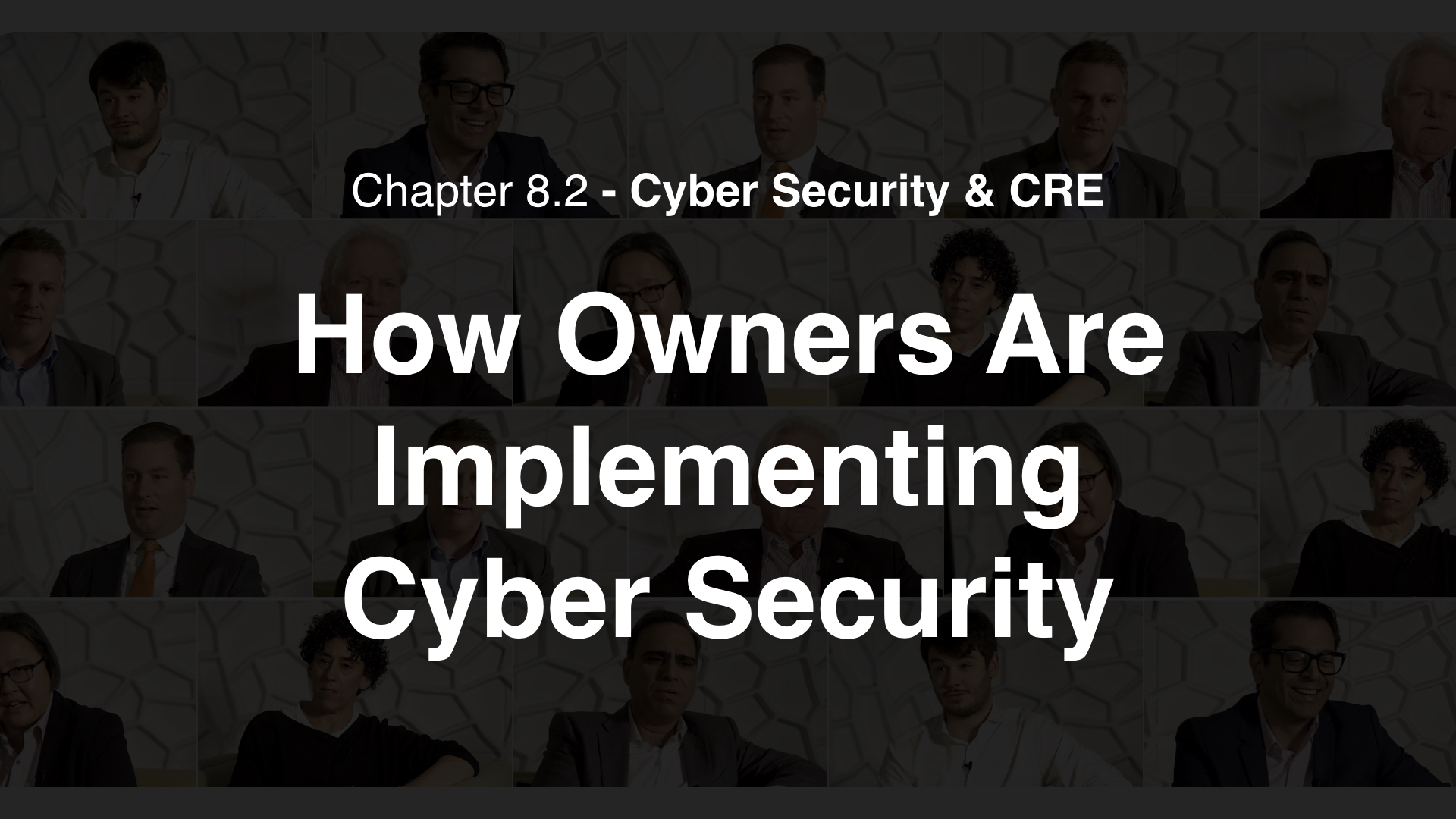 8.2 - How Owners Are Implementing Cyber Security