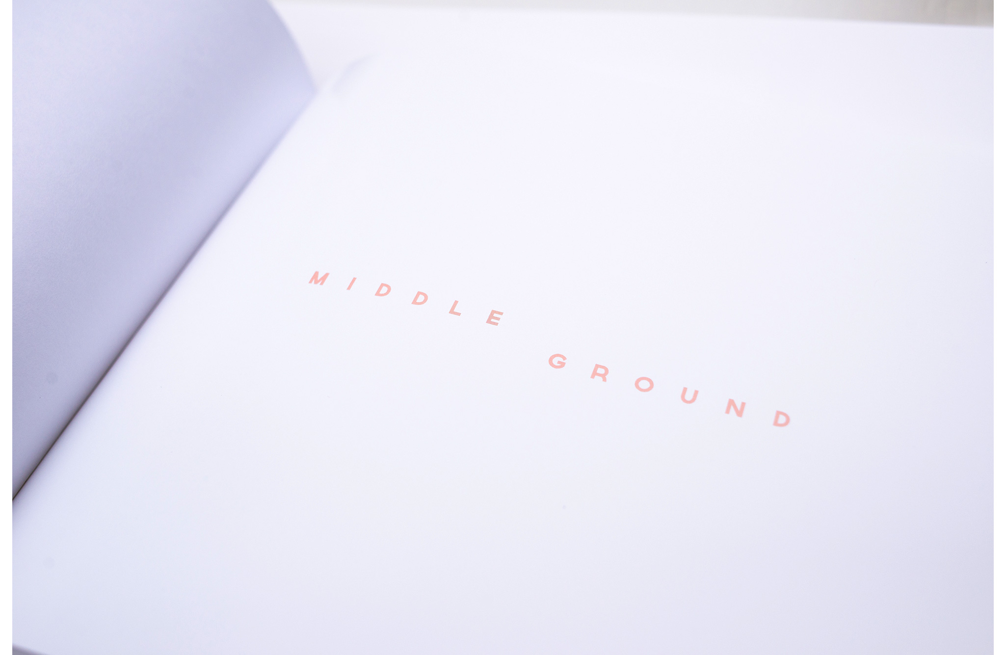 Middle Ground Collaborative Photo Book Cover Page Design - Loren Marple