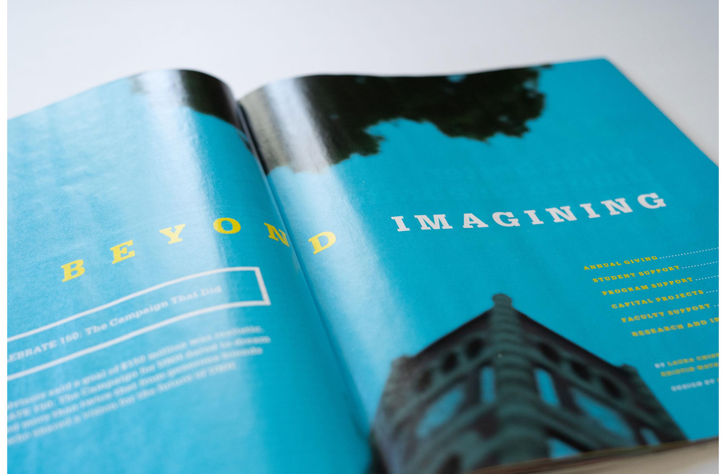UNH Celebrate 150 Campaign Results Feature Design Opening Spread - Loren Marple