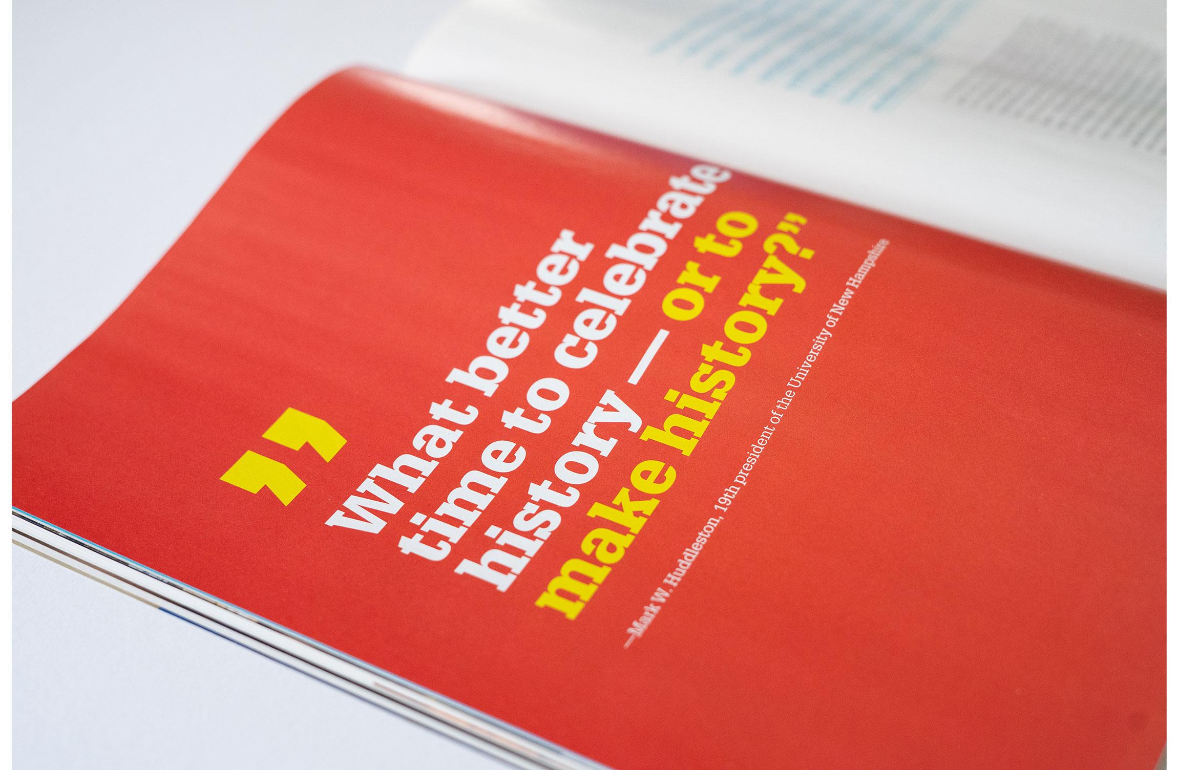 UNH Celebrate 150 Campaign Results Feature Design Spread - Loren Marple