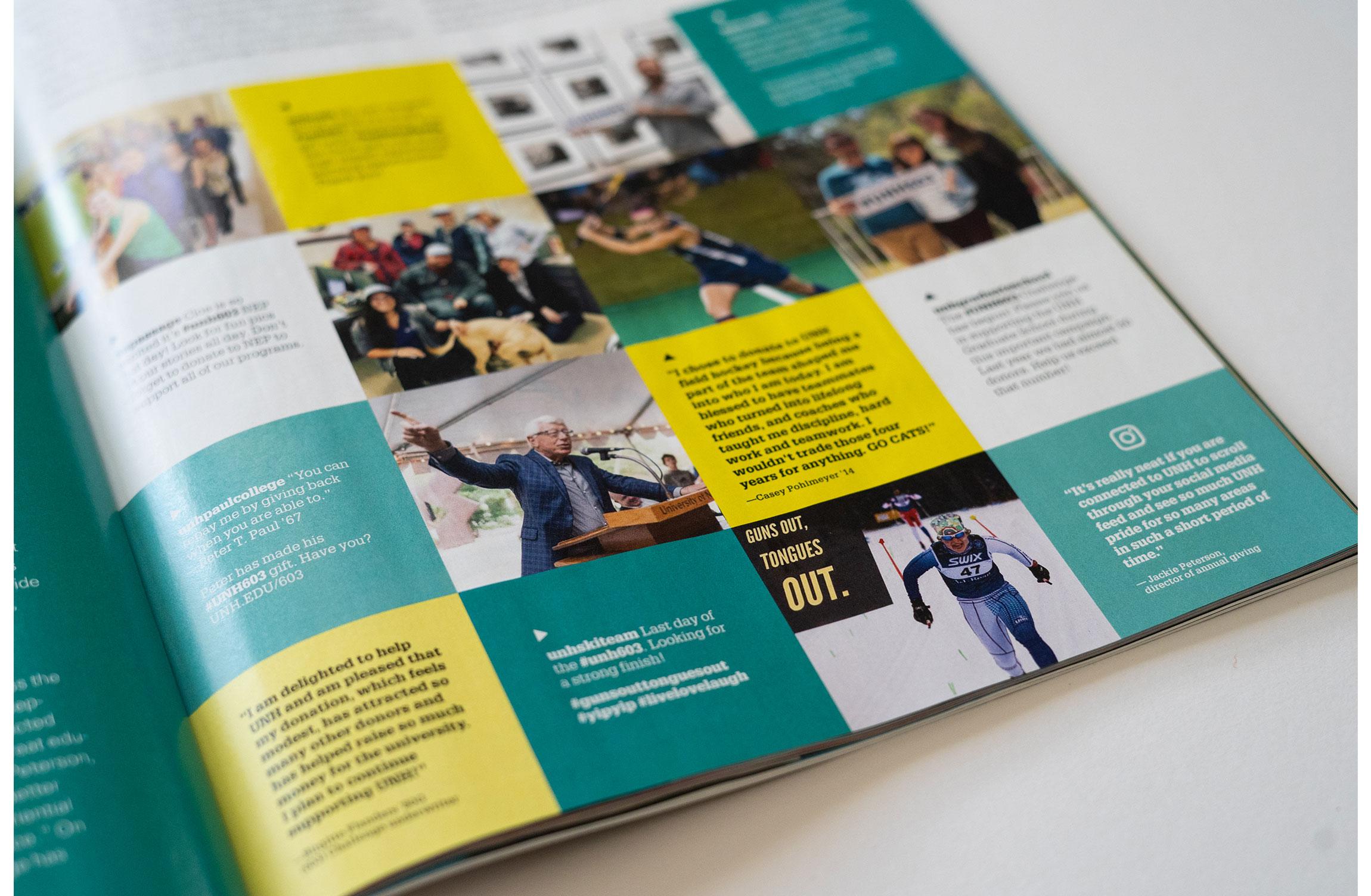 UNH Celebrate 150 Campaign Results Feature Design - 603 Challenge Instagram Spread - Loren Marple