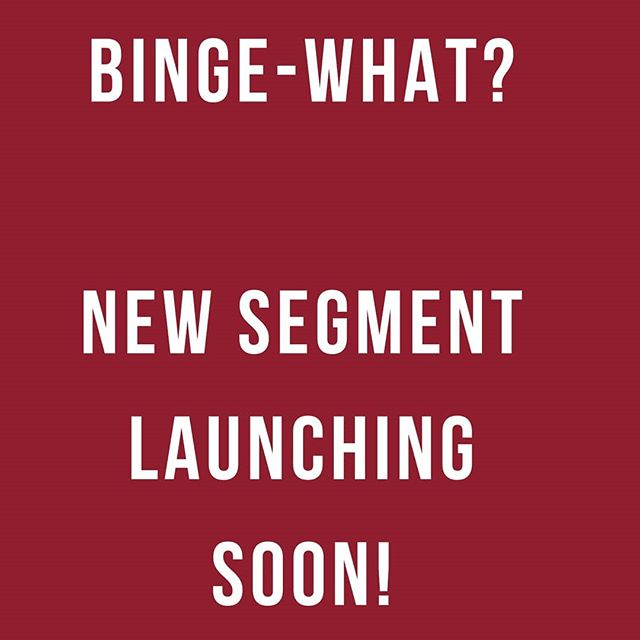 """After a brief hiatus, and in an effort to keep things fresh, a new segment """"BINGE WHAT?"""" will be launching soon covering #trendingtopic of streaming entertainment. Also, episode 100 is coming up, any ideas on celebration? #Bingewatch #Netflix #Hulu #AmazonPrime #BBPodcastNetwork #podcaster #podcasting #podcastlife #podcastlisteners #podcastinglife #podcastsuggestions #podcastsupport #podcastofinstagram #podcasterofinstagram #podcastsofinstagram #podcastmedia #trendingtopics #ttwithbb"""