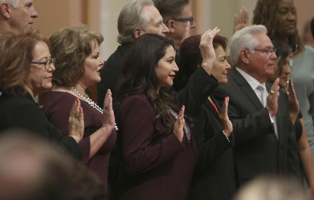 California Lawmakers swear in for new 2 year session.  Image Courtesy of the Herald Dispatch.