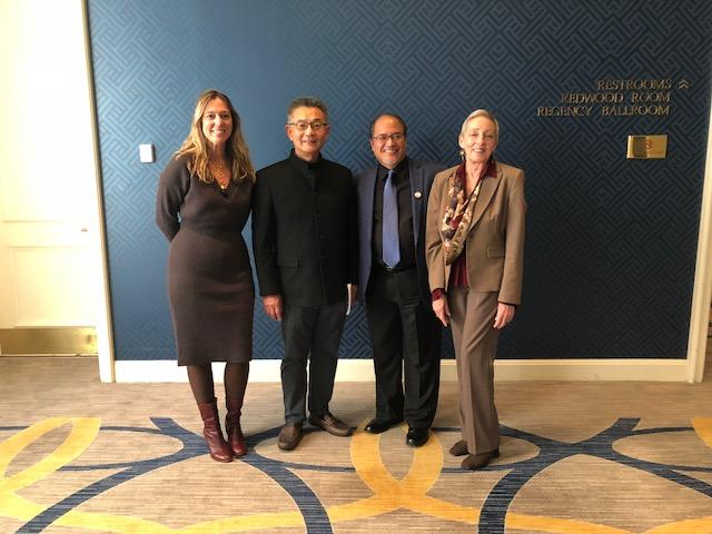 Left to Right Julie Baker, CFTA Executive Director, Assemblymember Kansen Chu,  Ron Muriera, CFTA Vice-President, Victoria Hamilton, President.