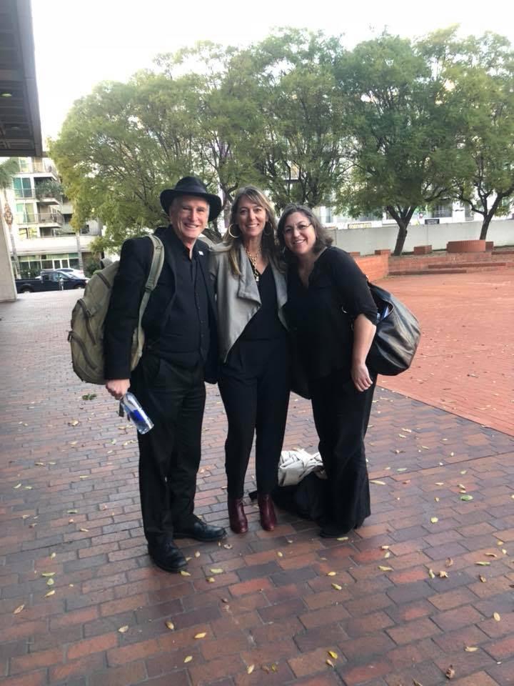 Arts leaders and board members Michael Alexander and Sofia Klatzer in LA with Julie Baker, CFTA ED.
